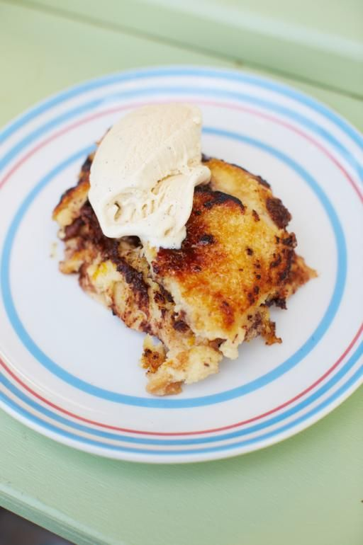 This is my ultimate new twist on that classic British pud that everyone loves. I've added a super-gooey layer of bananas, pecans and chocolate, and with the addition of Baileys, this is definitely my new guilty pleasure. Just be really careful when using the blowtorch – when it lights the sugar, it can flare up unexpectedly and I don't want you singeing your eyebrows like Jonathan Ross almost did!