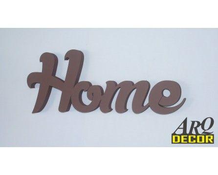 Napis Home - Dekoracje Ścienne - Wnętrz 3d - ARQ - DECOR | Pracowania Dekoracji ARQ DECOR