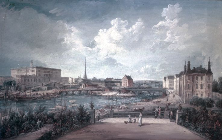 Bellmans' Stockholm. Picture by artist Elias Martin (1739-1818). Fredmans epistel no. 79. Listen to the music: https://www.youtube.com/watch?v=fR9XXPRjq68