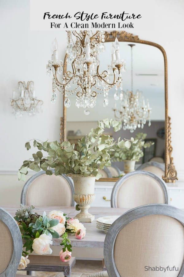 French Style Furniture and Chandelier Updates French and English