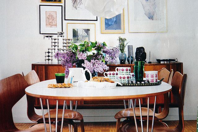 sheet from a contemporary Swedish interior decoration magazine