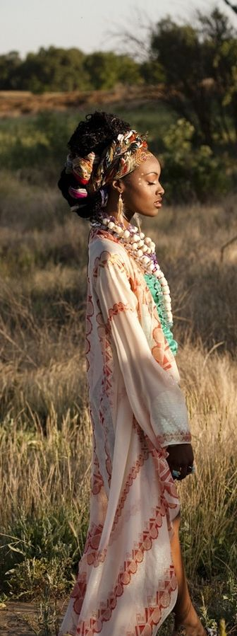 http://www.shorthaircutsforblackwomen.com/african-dresses/ African dress and natural hair! I just love how it screams culture
