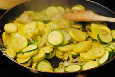 Sauteed zucchini and squash.  A great change from the typical green beans.