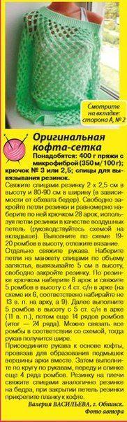 Chaqueta-Net, ganchillo. Discusión sobre LiveInternet - Servicio de Rusia Diarios Online
