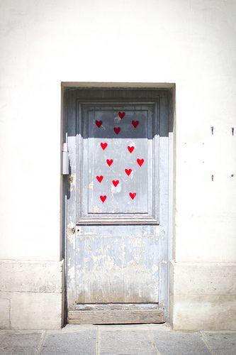 pretty door in paris
