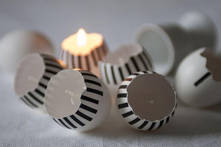 Munaküünlad | teip  Marlen Karema's Easter eggs decorated with masking tape!