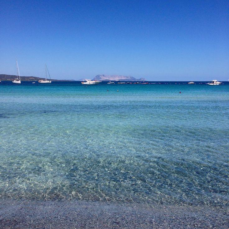 Sardegna Budoni - Spiaggia di Porto Ainu con l'isola di Tavolara sulla sfondo  #sardegna #budoni #spiagge #ainu #porto  #immobiliare