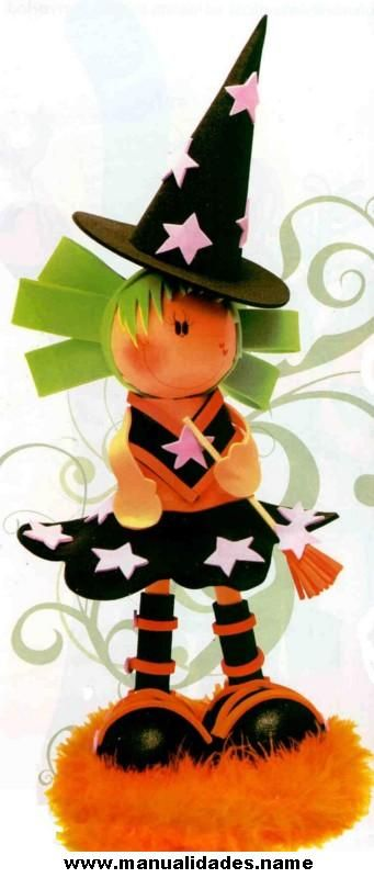 Bruja Fofucha para Halloween