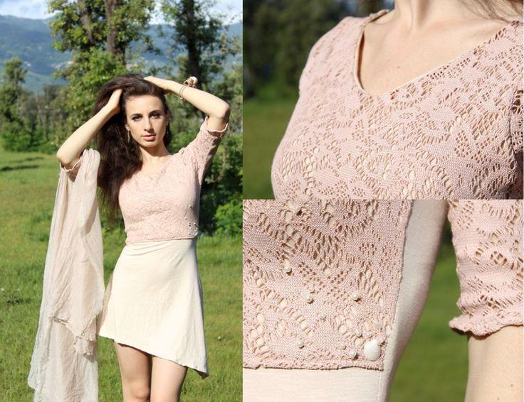 Mini abiti - Mini abito nei toni del rosa con applicazioni - un prodotto unico di SusannaSilicani su DaWanda