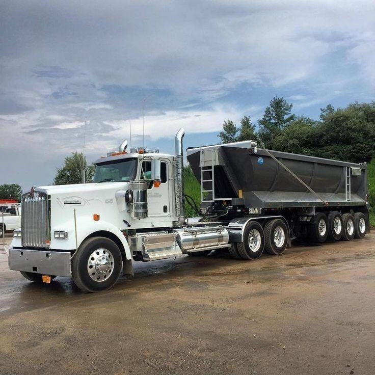 Semitrckn in 2020 Kenworth trucks, Dump trucks, Big trucks