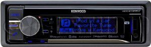 Kenwood Single DIN In-Dash Car Stereo Receiver by Kenwood. $177.94. BUILT-IN BLUETOOTH WITH A2DP. IPHONE BLUETOOTH AUTO PAIR. SIRIUSXM READY. VARIABLE COLOR ILLUMINATION. DUAL USB FRONT AND REAR PORTS. PANDORA - IHEART AND AHA RADIO CONTROL FOR IPHONE. AUX INPUT. 3 LINE DISPLAY. 3 RCA PRE-OUT 4 VOLT. SYSTEM Q. MUSIC CONTROL APP READY FOR ANDROID. BLACK FINISH