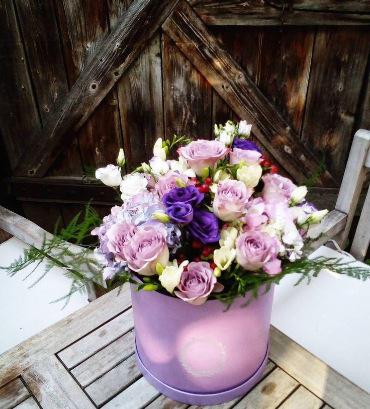 """73 aprecieri, 2 comentarii - Floraria Dorothy's (@florariadorothys) pe Instagram: """"Purple morning... #flowerbox #cluj #clujlife #clujnapoca #lifeincluj #viataincluj #cutiie…"""""""