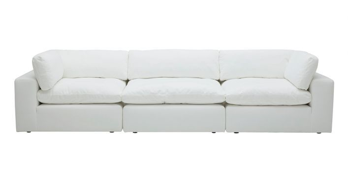 Bloom 3 Seater Modular Sofa White Contemporary Modern Sofas Living Room Furniture Store Contemporary Modern Living Room Furniture