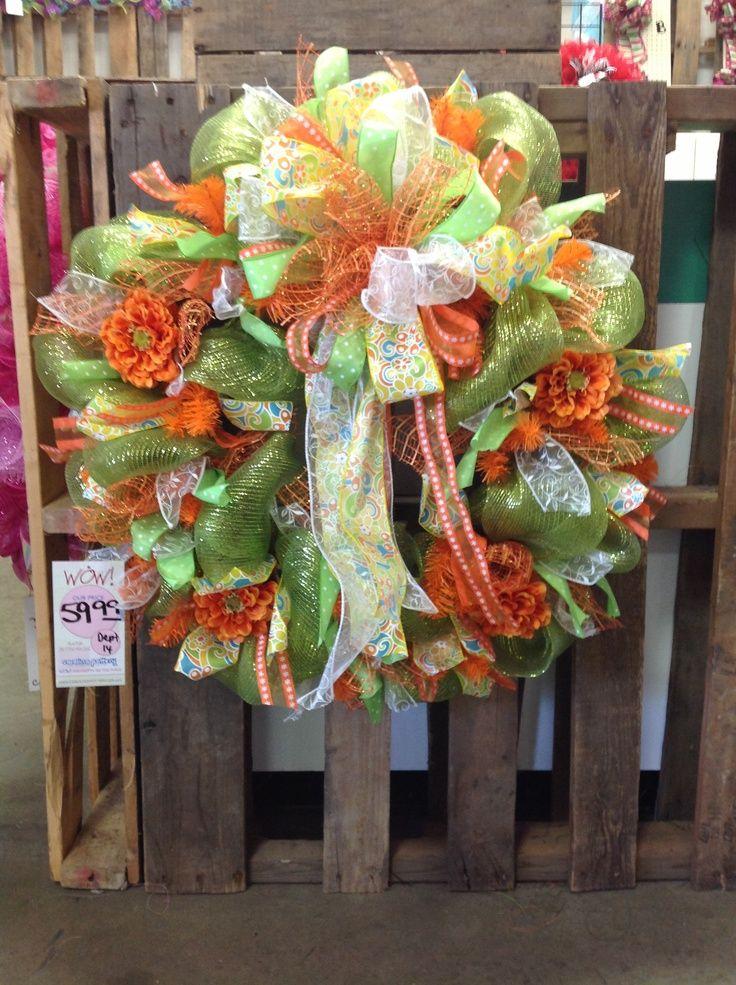 mesh wreaths | Spring Mesh Wreath 1 | holiday wreaths