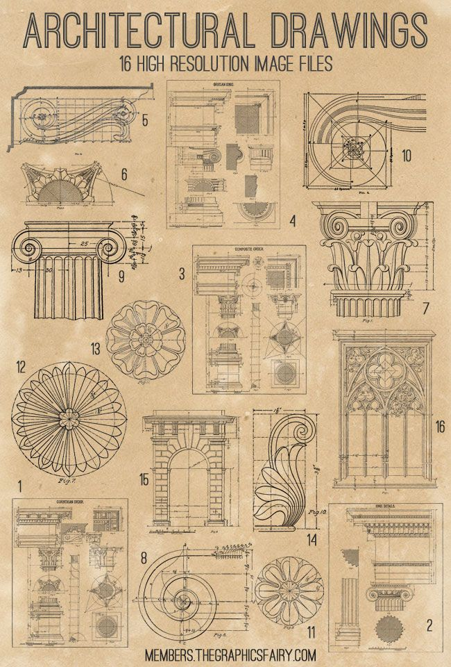 Awesome Architectural Diagrams Bundle - TGF Premium! - The Graphics Fairy