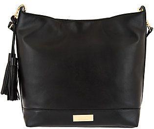 Isaac Mizrahi Live! Whitney Lamb Leather Hobo Handbag