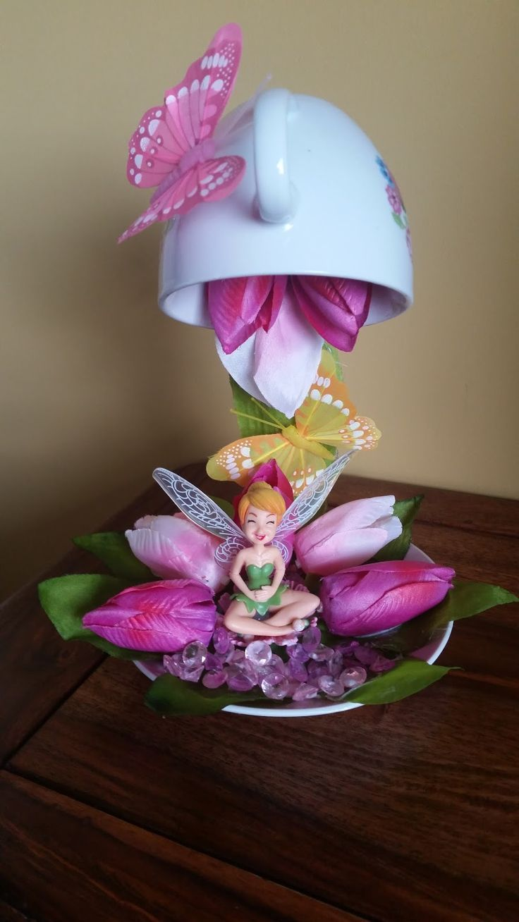Today i have made a floating cup fairy garden for one of my grand daughters