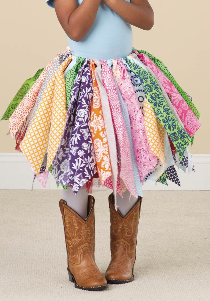 DIY rag skirt for a little girl