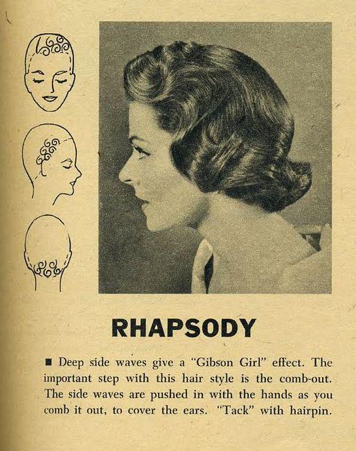 """Rhapsody"" hair setting pattern"