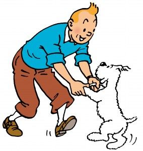 Tintin in Tibet ; Great reading for Reluctant readers ; print is usually very small though