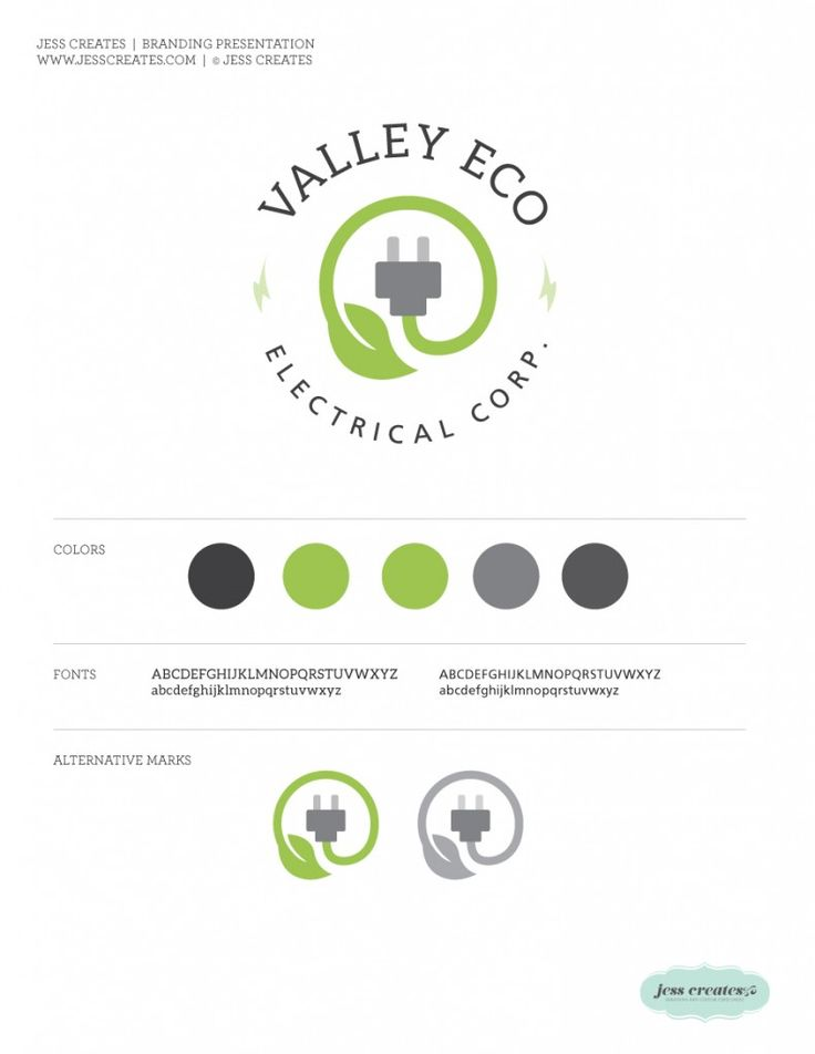 Valley Eco Electric Corp. |  Branding  | Logo  | www.jesscreates.com