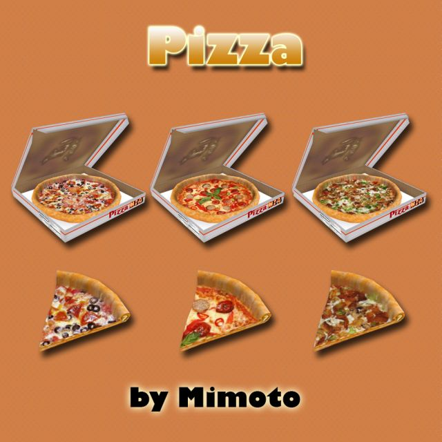 Lana CC Finds - sims 4. Decor by Mimoto  Pizza  Cheesecakes 14 in...