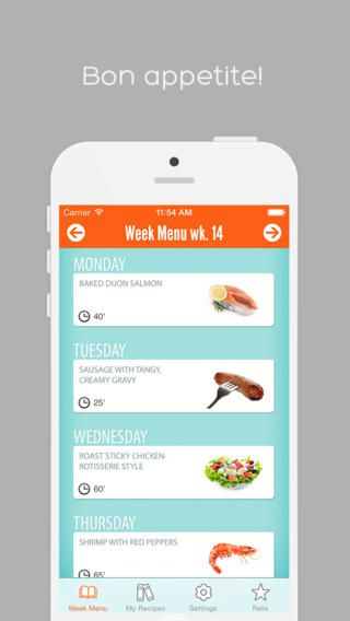 Week Menu - Plan your cooking with your personal recipe book - iPhone Edition by Bjorn Karlsson