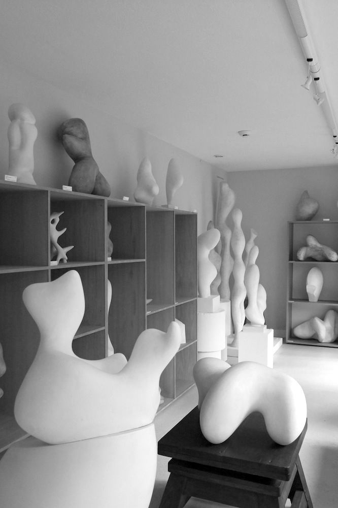 Jean Arp's sculpture atelier in Meudon