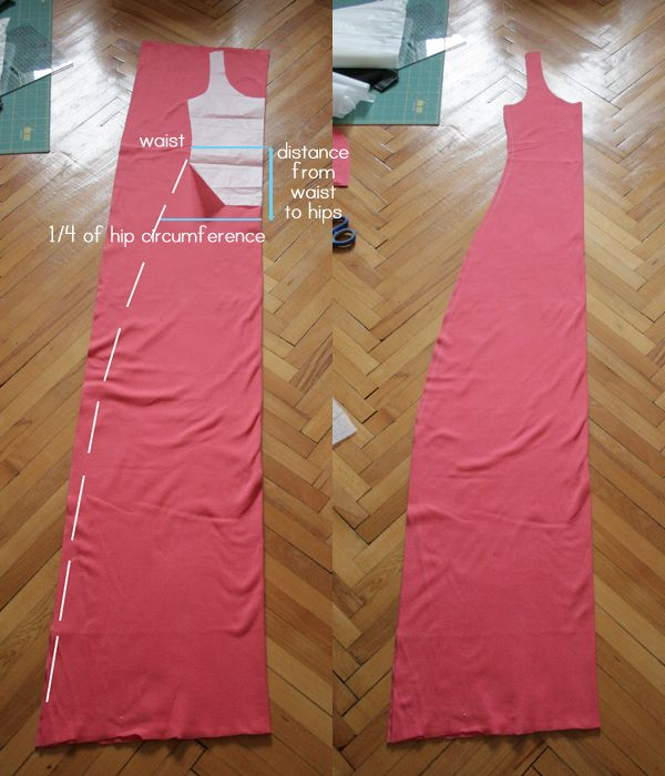 Simple summer jersey maxi dress (DIY) | Pearls and Scissors