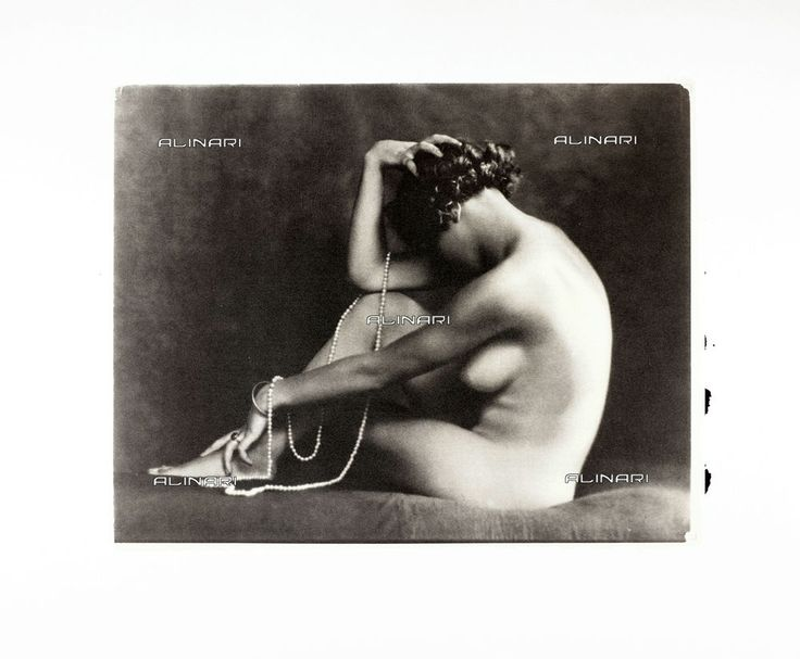 Alinari Platinotype Print. Portrait of a young nude woman Studio Wulz 1920 -1925
