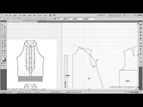 Model uygulamalı bluz kalıbı 7 / The model applied blouse pattern 7 - YouTube
