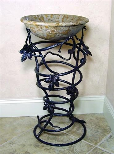 Yosemite Home Decor FIRESTINE-52 Material Iron 15 x 15 x 32. FIRESTINE-52 Yosemite Home Decors Firestine-52 stand is made of iron. This iron stand is made by human hands with some aid of tools to curl and twist the iron. The Firestine-52 iron stand has dimensions of 15 x 15 x 32 inche.. . See More Sink Stands at http://www.ourgreatshop.com/Sink-Stands-C1060.aspx