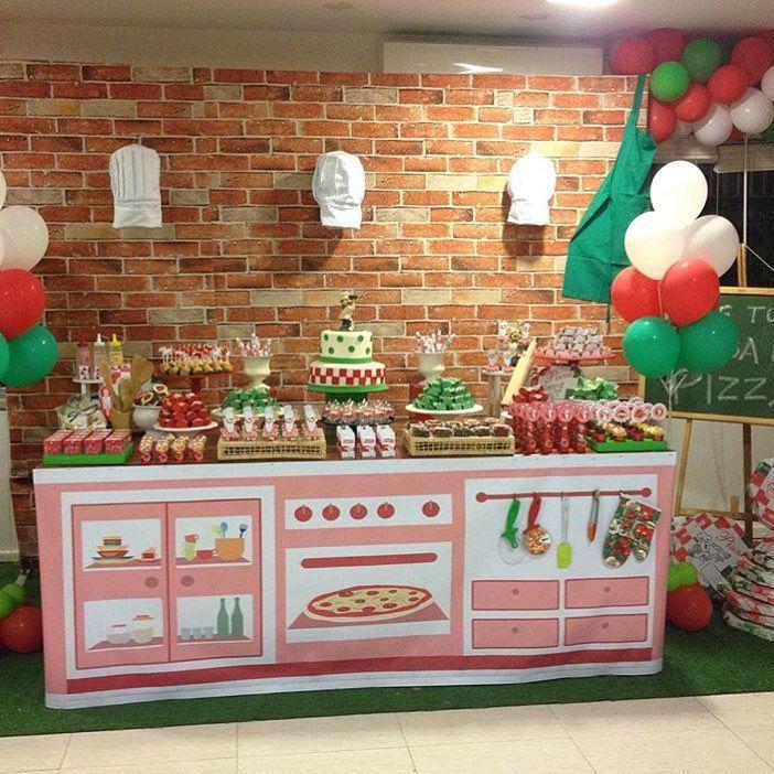 Festa Pizzaria. pizzaparty  #blogencontrandoideias