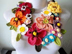 E seguindo com a produção de colores, hoje trouxe o colar primavera que é composto de muitas flores em diversos tamanhos e cores . Um ...