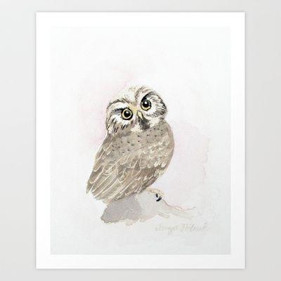 Owl Art Print by Tanya Petruk - $17.68