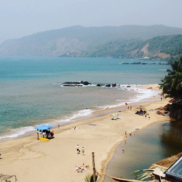 This unusual beach has sea on one side and fresh water lagoon on the other side!! Uncovering treasures of goa!!! Cola beach, Goa, India