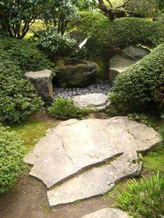 Garten Brunnen Moos Bedeckt Bambus Buchsbaumhecken Brunnen Garten Garten Japanischer Garten
