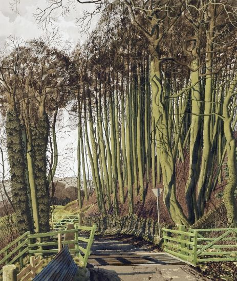 """""""Longstone Peak"""" by Simon Palmer  (watercolour with ink and gouache)"""