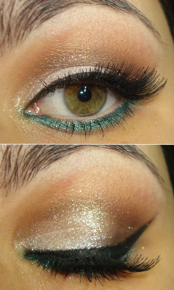 love the pop of color under eye