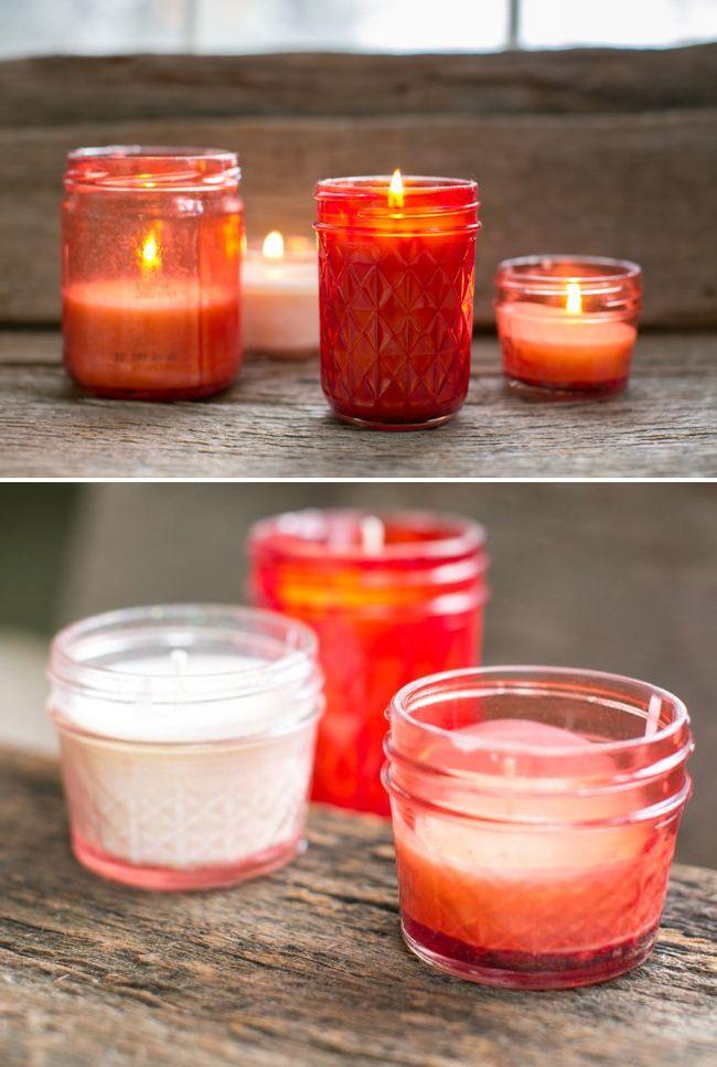 DIY Pink Mason Jar Candles   Henry Happened