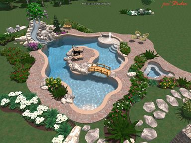 Island in the pool. Yes. this is going to be mine someday
