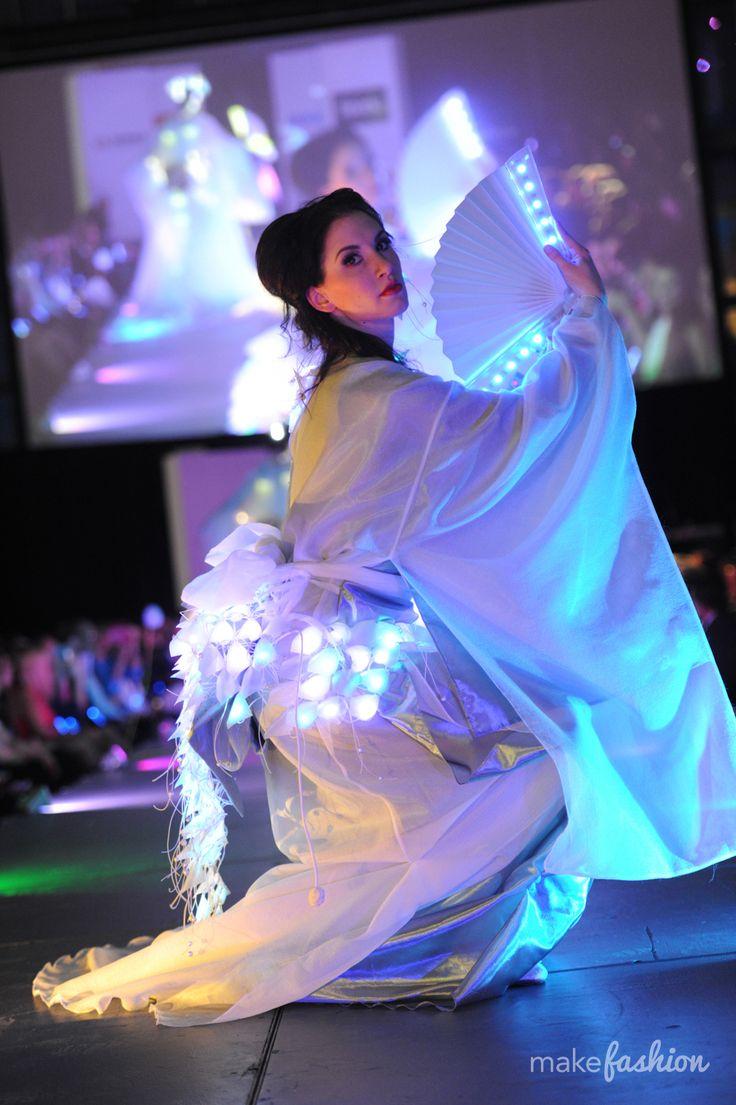 Hagoromo for MakeFashion combines tradition with technology. Photographer: Zev Vitaly Abosh | Models: Danuta and Simone | Hair: Jason Mellor of Love Hair by J | Makeup Artistry: Lyana Gilbert