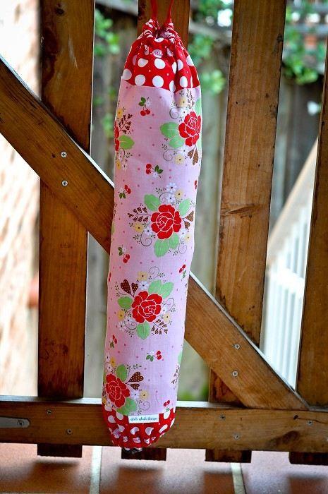 Bag holder tea towel holder bag bag sew cherry red amp pink