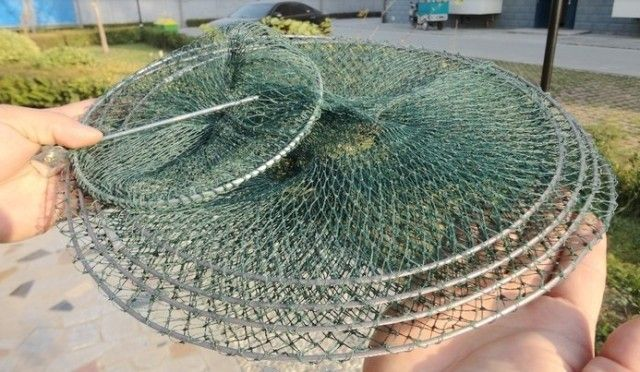 Foldable Fish Basket Lobster Crawfish Crab Trap Hoop Net - Buy ...