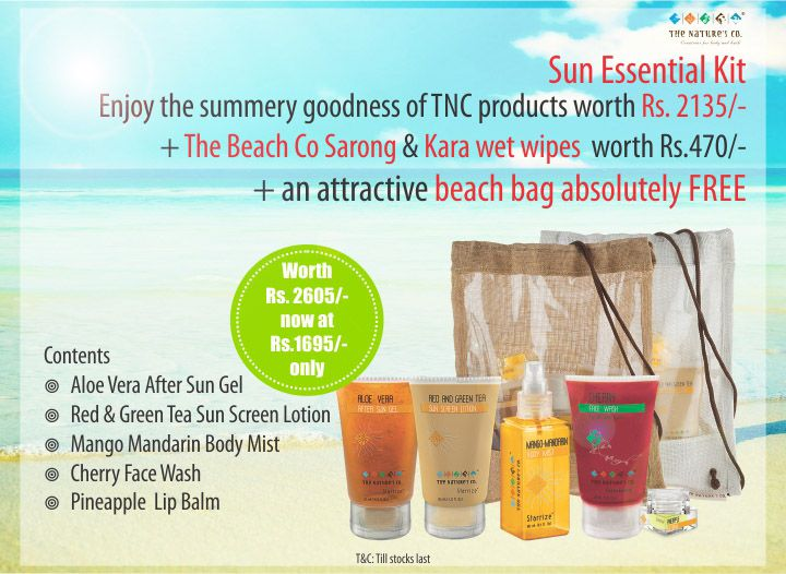 Our all new revised Sun essential Kit…a must have this summers….Now available in-stores and online on www.thenaturesco.com