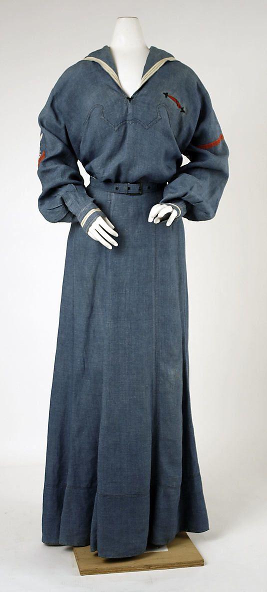 1902 Cotton Sailor dress