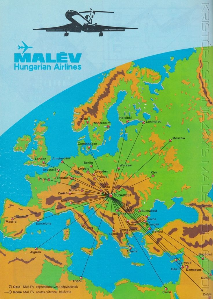 Malev route map