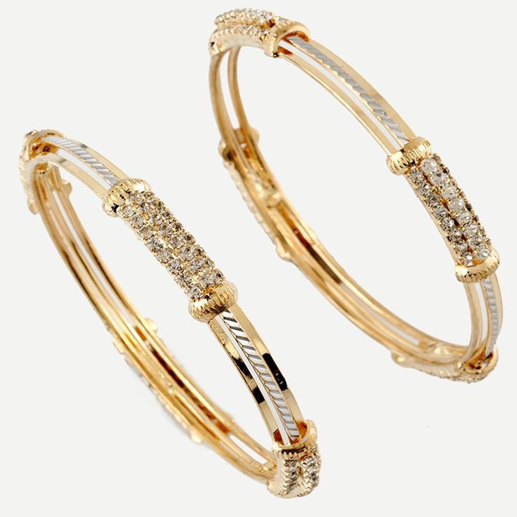 Gold and Diamond Bangles