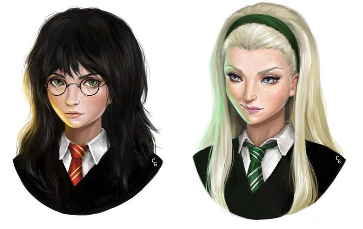 What if Harry Potter & Draco Malfoy were girls