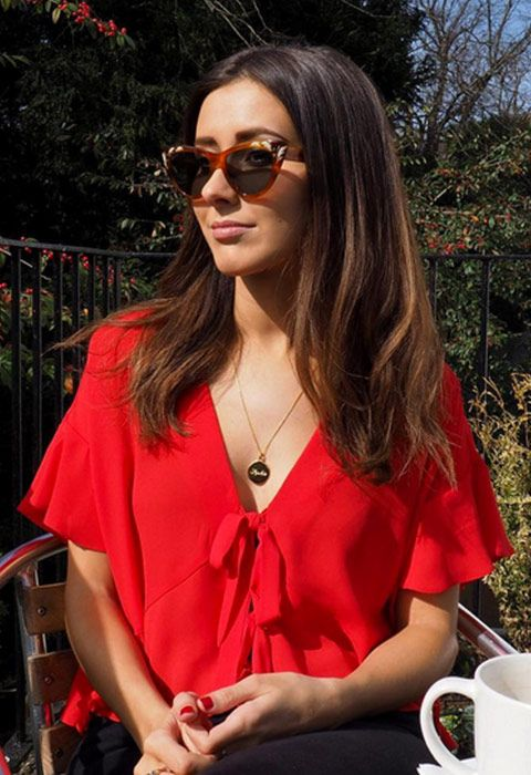 Simple and oh-so-pretty, it doesn't get more summer-ready than a floaty red crop top with ruffle sleeves. If the weather's still not playing ball, match with black straight-leg jeans and some chunky bow sliders. Oh, and sunnies ofc